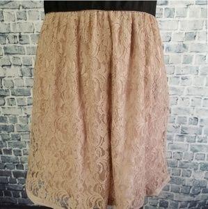 Elle Dresses - Elle Nude Lace Summer Dress w/ Sweetheart Neckline